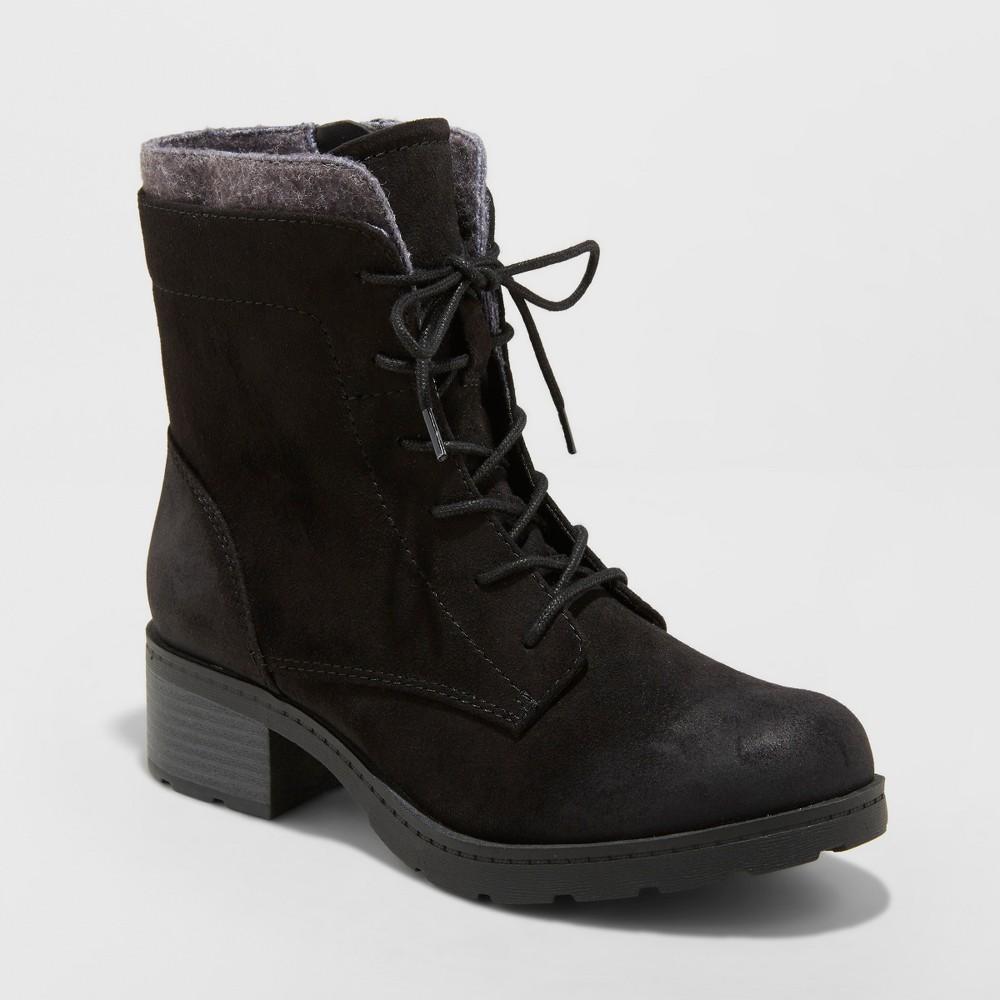 Women's Dez Lace Up Hiker Boots - Universal Thread Black 11