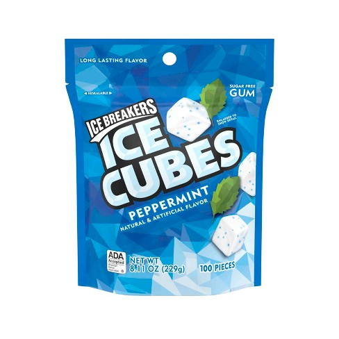Ice Breakers Ice Cubes Peppermint Sugar-Free Gum - 100ct - image 1 of 4