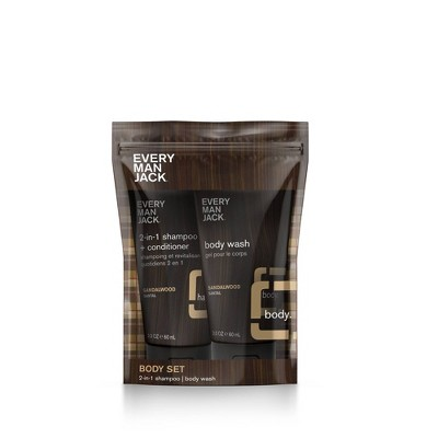 Every Man Jack Body Pouch - Sandalwood - 2ct