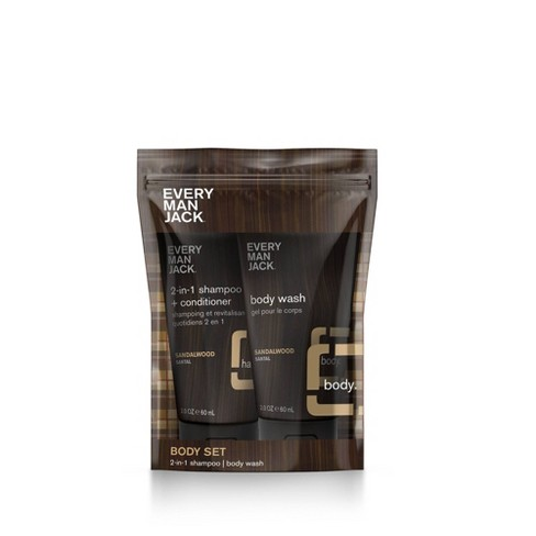 Every Man Jack Body Pouch - Sandalwood - 2ct - image 1 of 3