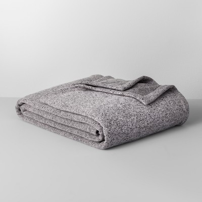 Solid Sweater Fleece Blanket (King)Gray - Made By Design™