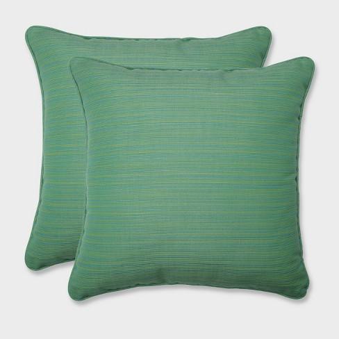 "18.5"" 2pk Dupione Paradise Throw Pillows Green - Pillow Perfect - image 1 of 1"
