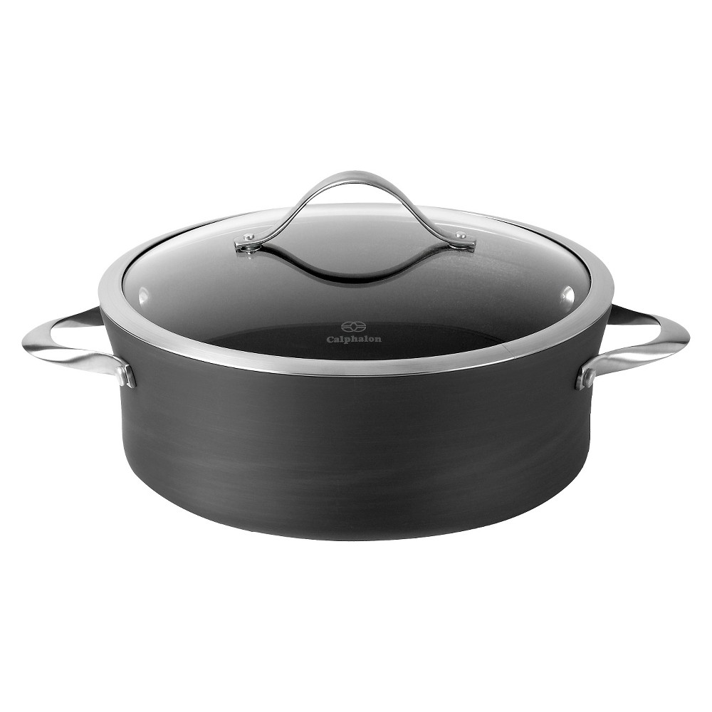 Calphalon Contemporary 5 Quart Non-stick Dishwasher Safe Dutch Oven with Cover, Grey