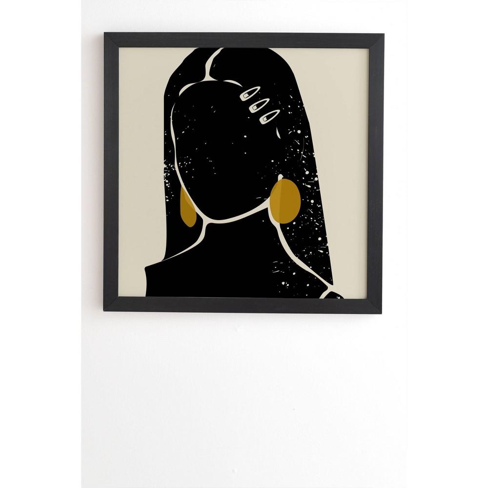 20 34 X 20 34 Domonique Brown Black Hair No 3 Framed Wall Art Black Deny Designs