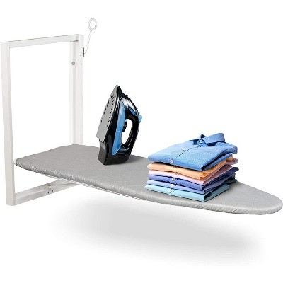 "Ivation Wall-Mounted Ironing Board | Foldable 36.2"" x 12.2"" Ironing Station for Home, Apartment & Small Spaces 