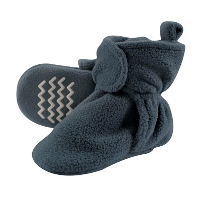 Hudson Baby Infant and Toddler Boy Cozy Fleece Booties, Coronet Blue