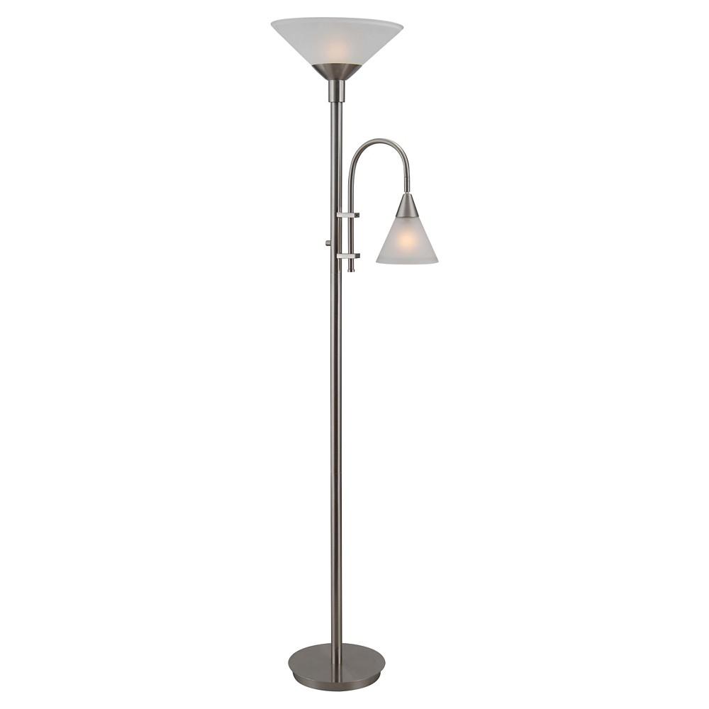 Image of 3-way Floor Lamp Stainless Steel - Kenroy Home