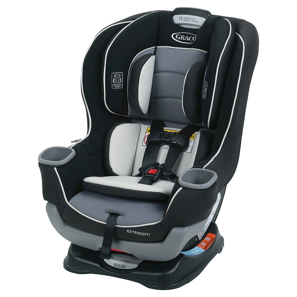 Image of Graco Baby Extend2Fit Convertible Car Seat - Gotham