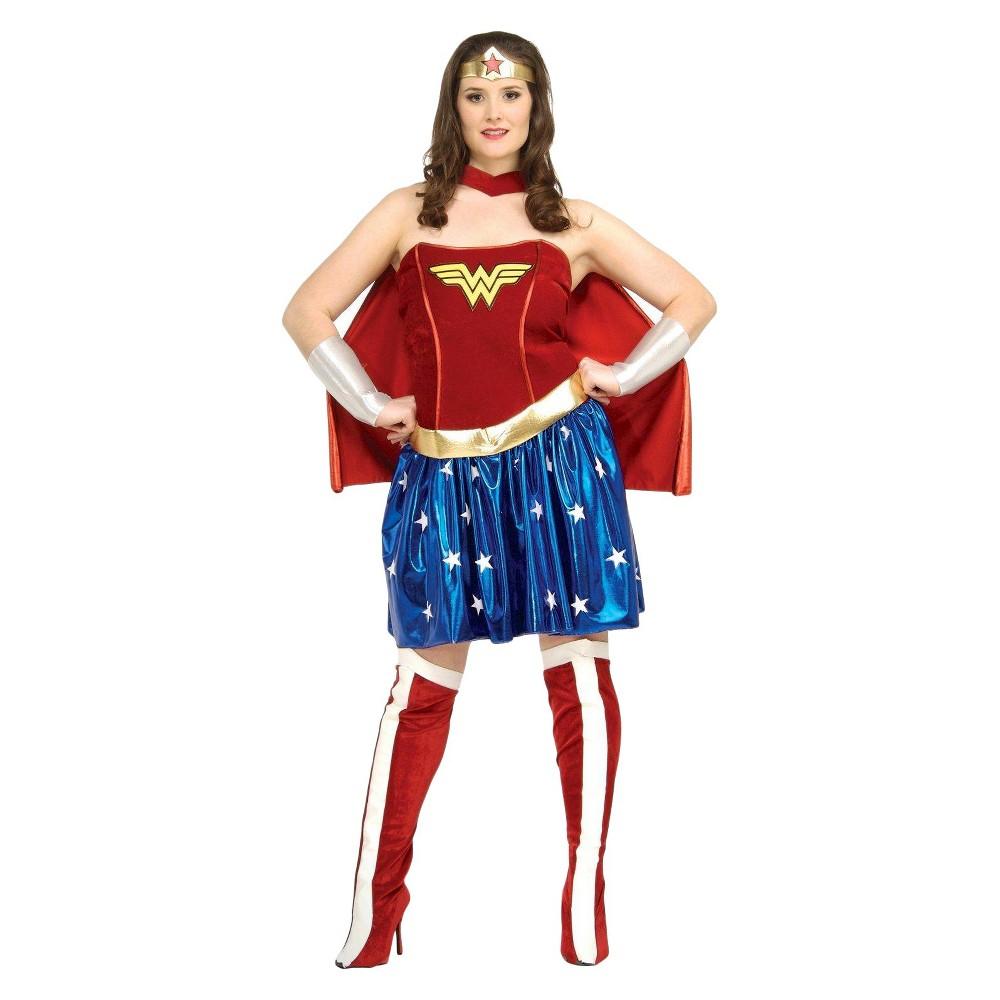 Halloween Wonder Woman Adult Plus Costume - Plus, Women's, Red