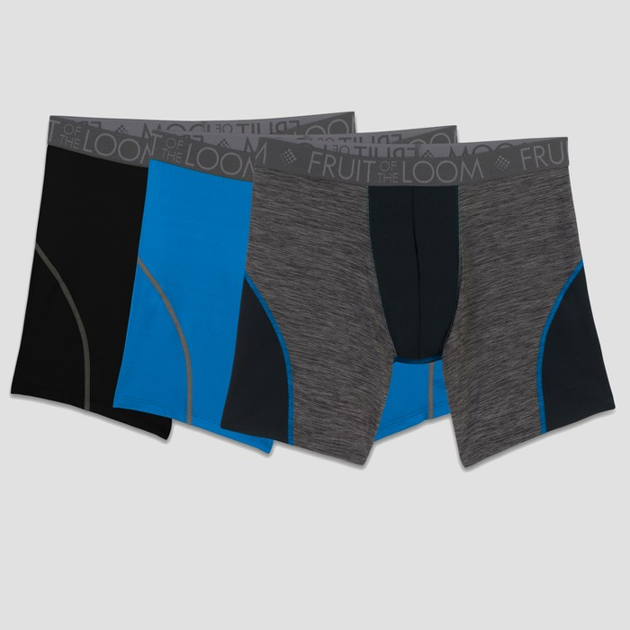 Fruit of the Loom Select Men's Breathable Performance Boxer Briefs 3pk - image 1 of 3