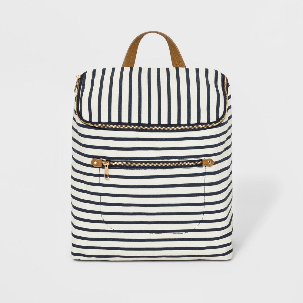 Striped Canvas Backpack - A New Day Navy (Blue)