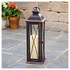 """Siena 16"""" LED Candle Outdoor Lantern - Antique Brown - Smart Living - image 3 of 4"""
