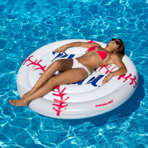 Swimline Giant Sports Balls Inflatable Swimming Pool Toy Raft Ride ...