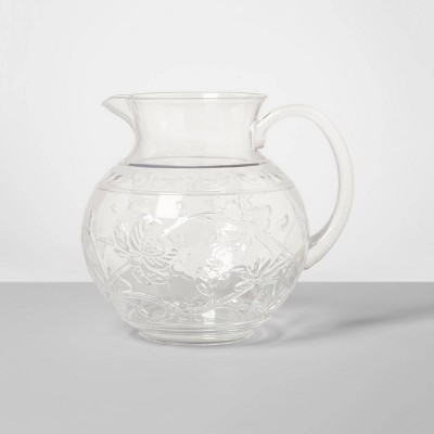 3qt Plastic Floral Embossed Beverage Pitcher - Opalhouse™