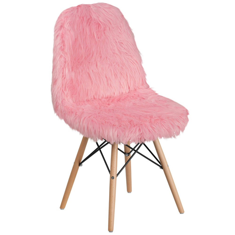 Shaggy Dog Accent Chair Pink - Riverstone Furniture