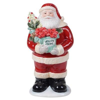 56oz Earthenware Christmas Story 3D Santa Cookie Jar - Certified International