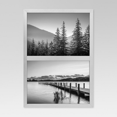 Metal Stacked Double Image Frame 5x7 - Gunmetal - Project 62™