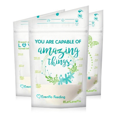 Evenflo Advanced Breast Milk Storage Bags 5oz, 100ct