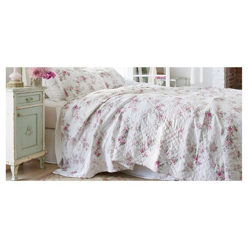 Superb White Blooming Blossoms Quilt Full Queen Simply Shabby Chic Download Free Architecture Designs Scobabritishbridgeorg