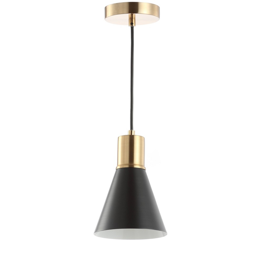 "Image of ""6"""" Apollo Metal LED Pendant Black (Includes Energy Efficient Light Bulb) - JONATHAN Y"""