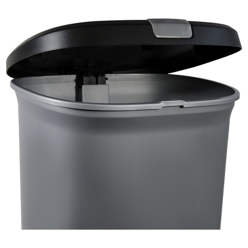 Hefty 127 Gallon Step On Lid Lock Trash Can Silver Target