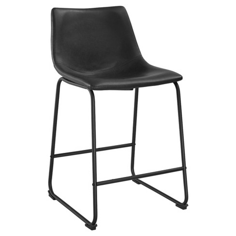 50b81ee63298 Faux Leather Counter Stools (Set Of 2) - Saracina Home   Target