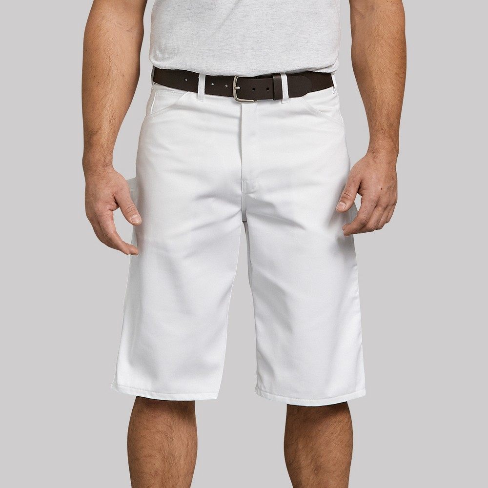 Dickies Men's 13 Trouser Shorts - White 40