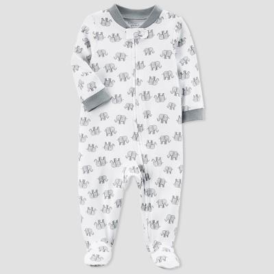 Baby Elephant Sleep N' Play - little planet™ organic by carter's® White/Gray Newborn