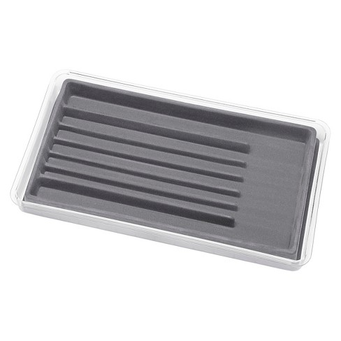 Whitmor 7 Sections Stacking Jewelry Tray- Gray - image 1 of 2