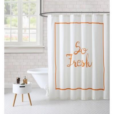 So Fresh Shower Curtain White - Freshee