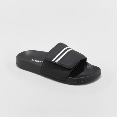 ad4e4154023c Boys  Wilton Slide Sandals - Cat   Jack™ Black   Target