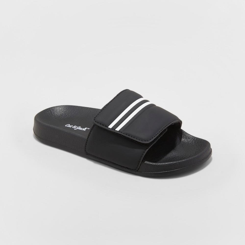 Image of Boys' Wilton Slide Sandals - Cat & Jack Black M, Boy's, Size: Medium