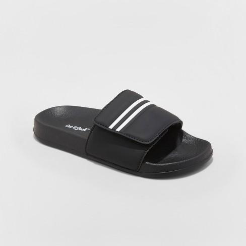 958e38b24c8d Boys  Wilton Slide Sandals - Cat   Jack™ Black L   Target