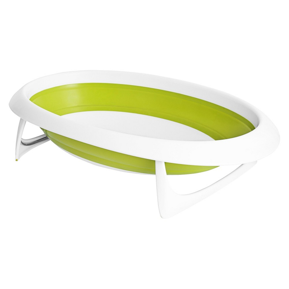 Image of Boon Naked 2-Position Collapsible Baby Bathtub - Green