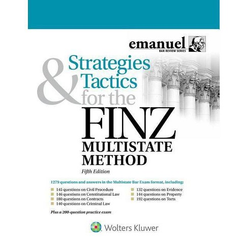 Strategies and Tactics for the Finz Multistate Method - (Emanuel Bar Review) 5 Edition (Paperback) - image 1 of 1
