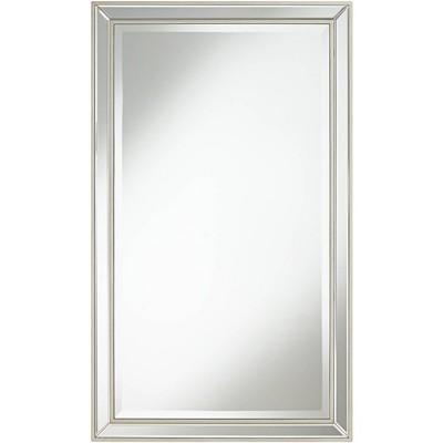"Noble Park Helena Antique Silver 25"" x 42"" Rectangular Wall Mirror"