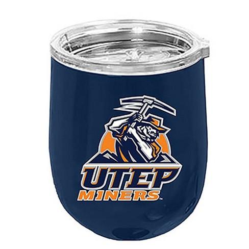 NCAA UTEP Miners Matte Stainless Steel Wine Tumbler - image 1 of 1