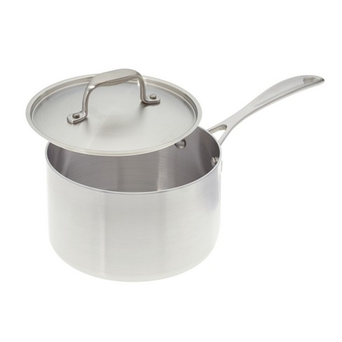 American Kitchen Cookware Stainless Steel 2 Quart Covered Saucepan with Steamer Insert - image 1 of 2