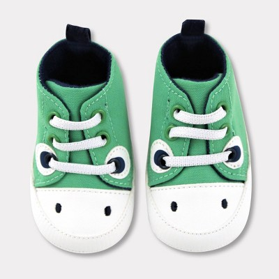 Baby Boys' Dino Canvas High Top Shoes - Cat & Jack™ Green 0-3M
