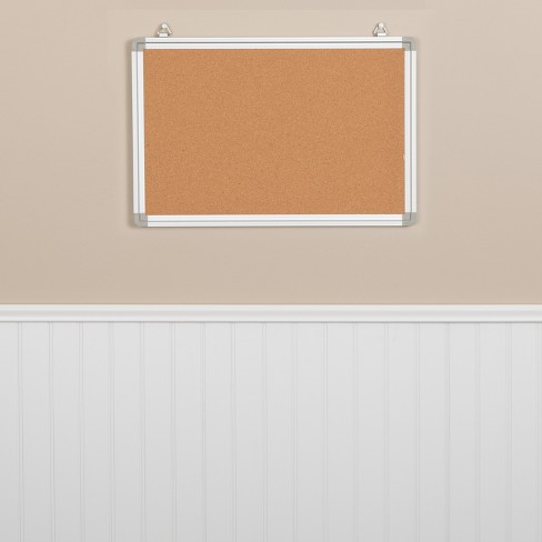 Flash Furniture HERCULES Series Wall Mounted Natural Cork Board with Aluminum Frame - image 1 of 4