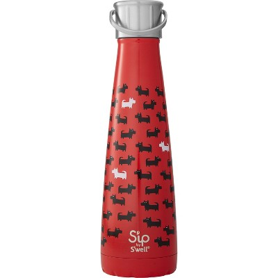 S'ip by S'well 15oz Stainless Steel Water Bottle Savvy Scotties Red
