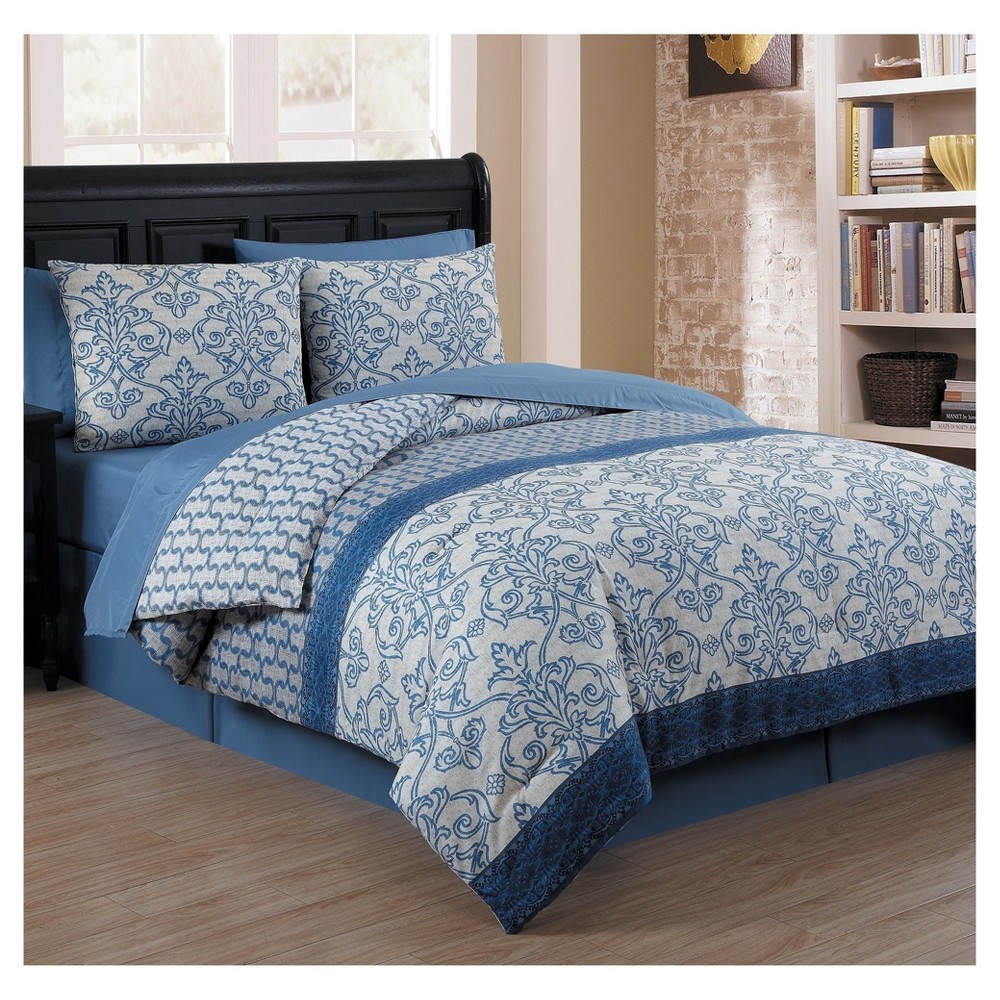 Blue Corsica Bed in a Bag Set (Queen) 8pc