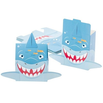 Juvale Shark Party Favor Goodie Boxes (24 Pack)