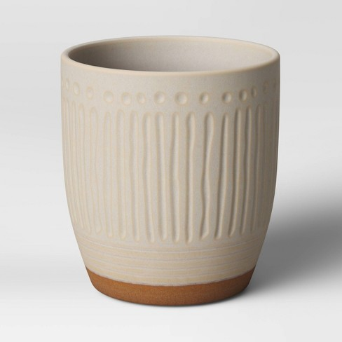 Textured Ceramic Planter White - Opalhouse™ - image 1 of 3