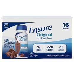 Ensure Original Nutrition Shake - Milk Chocolate - 16ct/128 fl oz