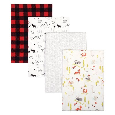 Trend Lab Flannel Receiving Blankets - Buffalo Check 4pk