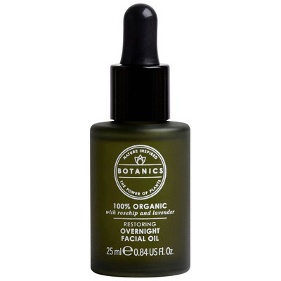 Botanics Restoring Overnight Facial Oil - 0.84 fl oz