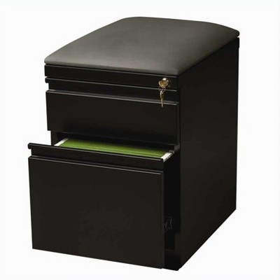 Steel Mobile Seat  Box x-File Cabinet in Black-Hirsh Industries