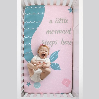 NoJo Sugar Reef Mermaid Fitted Crib Sheet