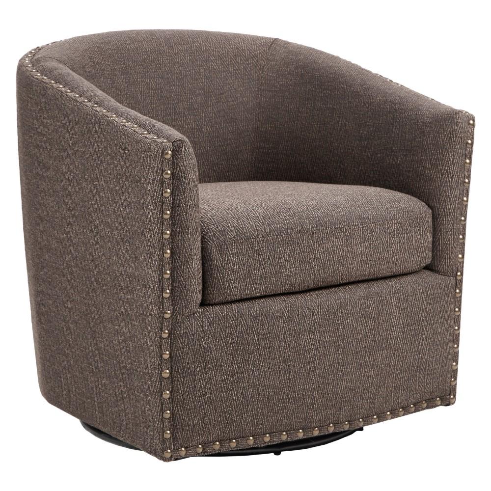 Sheldon Swivel Chair - Chocolate (Brown)
